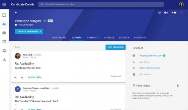 谷歌发布招聘应用Hire:整合Gmail等G Suite服务